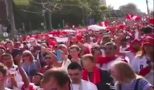 Mundial Rusia 2018: hinchas peruanos toman calles de Ekaterimburgo