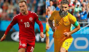 Dinamarca vs Australia: Empate 1-1 da chance a Perú antes del duelo con Francia
