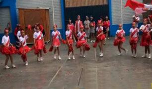 Carabayllo: escolares alientan a la selección peruana ante duelo con Francia
