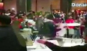 Callao: hinchas causan desmanes en centro comercial tras derrota de Perú