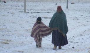 Declaran estado de emergencia en nueve regiones del país por heladas y nevadas