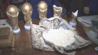 """Capturan banda """"narco campeones"""" que transportaba cocaína en Copas del Mundial"""