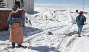 Gobierno declara en emergencia 122 distritos por heladas y nevadas