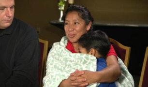 Madre guatemalteca se reencuentra con su hijo tras ser separados por gobierno de Trump