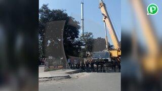 SJL: Vecinos de Zárate protestan por instalación de antena