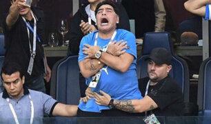 Imágenes de Diego Maradona causan polémica tras el Argentina vs Nigeria