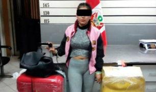Detienen a ciudadana española con más de 9 kilos de cocaína en aeropuerto Jorge Chávez