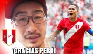 Japonés confundido con el TAS celebra victoria peruana ante Australia