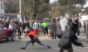 Chaclacayo: vecinos se enfrentan a obreros por impedir instalación de antena de telefonía