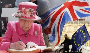 Reina Isabel II firmó ley que oficializa la salida de Reino Unido de la Unión Europea
