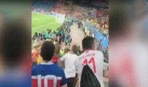 Rusia 2018: hinchas de Brasil y Serbia se pelearon en las tribunas