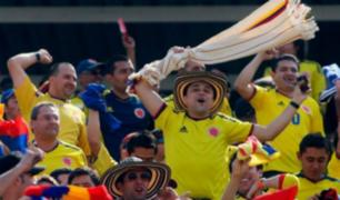 Así fue la gran celebración de hinchas colombianos en Miraflores