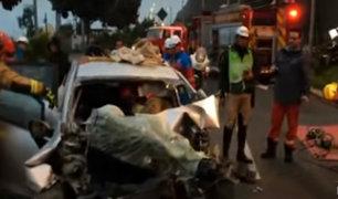 Magdalena: auto choca con tráiler en la Costa Verde