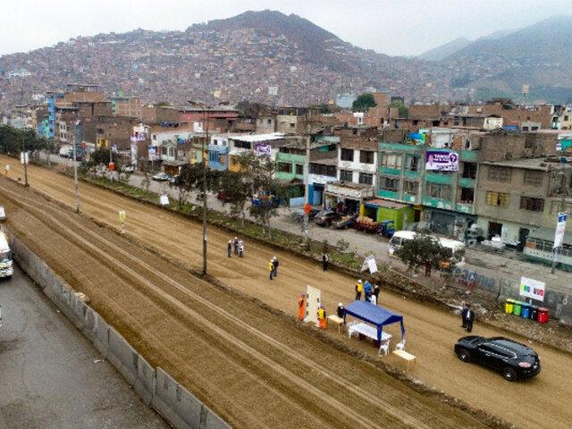 Alcalde de Lima supervisó avances de la nueva Av. Circunvalación