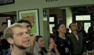 Rusia 2018: ciudadanos franceses en Lima festejaron victoria ante Argentina