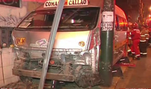 Magdalena: ocho heridos de gravedad deja accidente de combi de transporte público