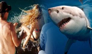 Australia: mujer es arrastrada por tiburón al que intentaba dar de comer