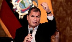 """Expresidente Rafael Correa denunció ser víctima de """"persecución política"""""""