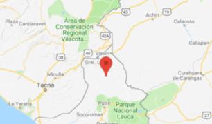 Tacna: sismo de 4.2 de magnitud remeció la región esta tarde