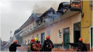Incendio consume casona del centro histórico de la ciudad de Trujillo