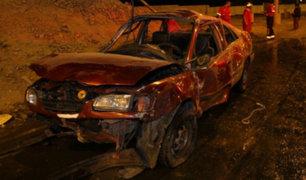 Barranco: conductor en aparente estado de ebriedad provoca triple choque