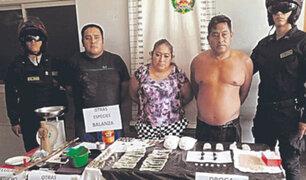 Piura: policía detiene a familia comercializadora de drogas en Chulucanas