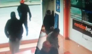San Juan de Lurigancho: delincuentes armados asaltan casa de apuestas