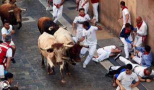 España: así fue el tercer encierro de San Fermín 2018