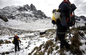 Áncash: montañista alemán que cayó a grieta de 30 metros fue rescatado con éxito