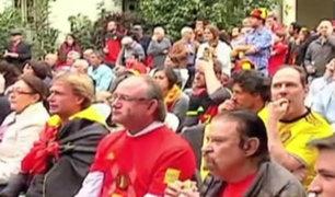 Hinchas belgas en Lima contentos por desempeño de su equipo en Rusia 2018