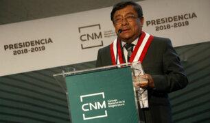 Presidente del CNM asegurá que su institución tiene solvencia moral para procesar a miembros cuestionados