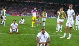 Jugadores ingleses se lamentaron tras ser eliminados del mundial