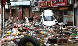 China: supertifón María deja pérdidas millonarias a su paso