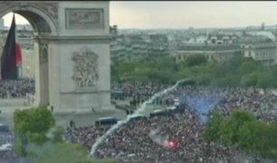 Así festejaron los franceses el título