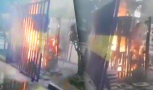 Pandilleros queman caseta de seguridad en San Luis