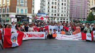Peruanos en Madrid se suman a jornada de protestas contra la corrupción