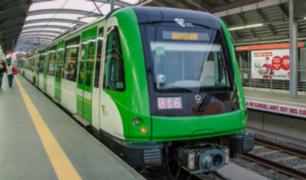 Metro de Lima: tren de 6 coches trasladará 1,200 pasajeros por viaje