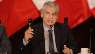 Premier Villanueva: Antes del lunes será nombrado el nuevo ministro de Justicia
