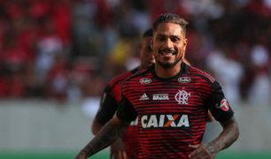 Paolo Guerrero jugó en triunfo del Flamengo