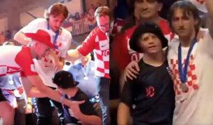 Luka Modric tuvo noble gesto con niño con síndrome de down
