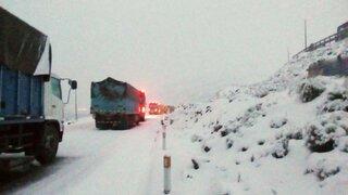 Intensa nevada interrumpe tránsito en la vía Cusco-Quillabamba