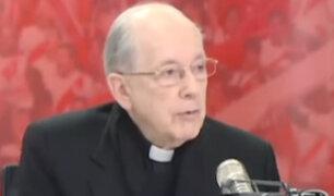 Cardenal Cipriani pidió que todos los audios se hagan públicos