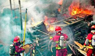 Chosica: presuntos traficantes de terrenos queman vivienda y vehículos