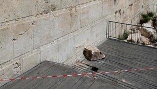 VIDEO: Piedra de 100 kilos se desprendió del Muro de las Lamentaciones