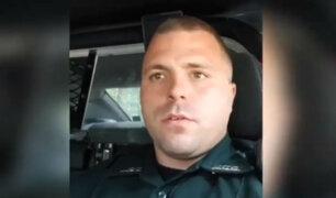 """Facebook: """"Vamos abuelo"""", tierna queja de un policía contra un lento 'conductor' es viral [VIDEO]"""