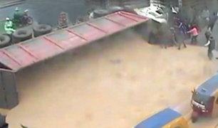 Camión volcado en la Panamericana Sur no tenía permiso de circulación