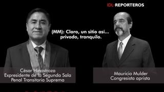 Nuevo audio: Mauricio Mulder y César Hinostroza planearon reunión