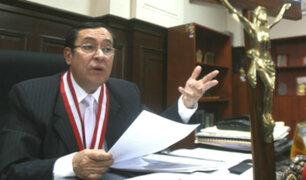 Víctor Prado propondrá que elección de presidente del PJ sea por voto universal