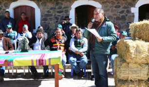 Arequipa: Ministerio de Agricultura lleva ayuda a zonas afectadas por heladas