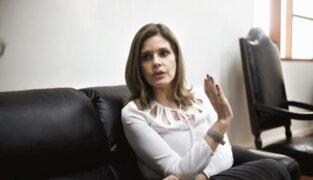 Fiscalía interrogó a vicepresidenta Mercedes Aráoz por reuniones con Silva Checa